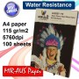 A4 115G High Glossy Inkjet Photo paper Super 100 Sheets