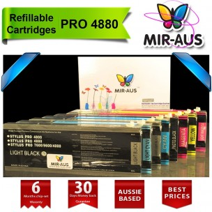 REFILLABLE CARTRIDGES FOR STYLUS EPSON PRO 4880
