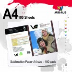 Sublimation Paper A4 size - 100 Sheets