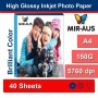 A4 150G High Glossy Inkjet Photo Paper