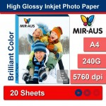 A4 240G High Glossy Inkjet Photo Paper