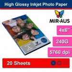 102x152mm 240G High Glossy Inkjet Photo Paper
