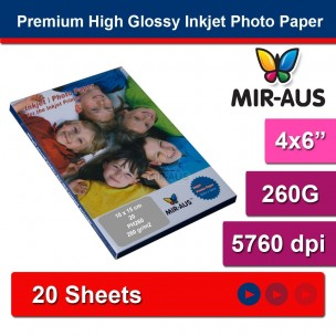 102x152mm 260G Premium High Glossy Inkjet Photo Paper