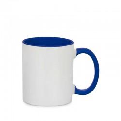 Sublimation Mug en céramique poignée intérieur bleu foncé