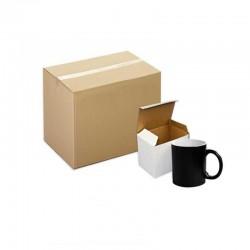 48 Sublimation Black Colour changing mug with gift box
