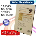 A4 108 G fosco revestido papel Inkjet