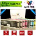 Cartuchos recarregáveis para Stylus Epson Pro 7800