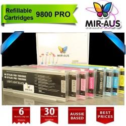 Cartuchos recarregáveis para Stylus Epson 9800 Pro