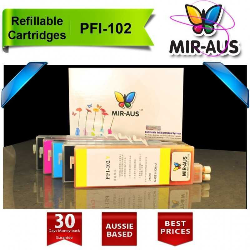 Refillable cartridges for Canon PFI-102