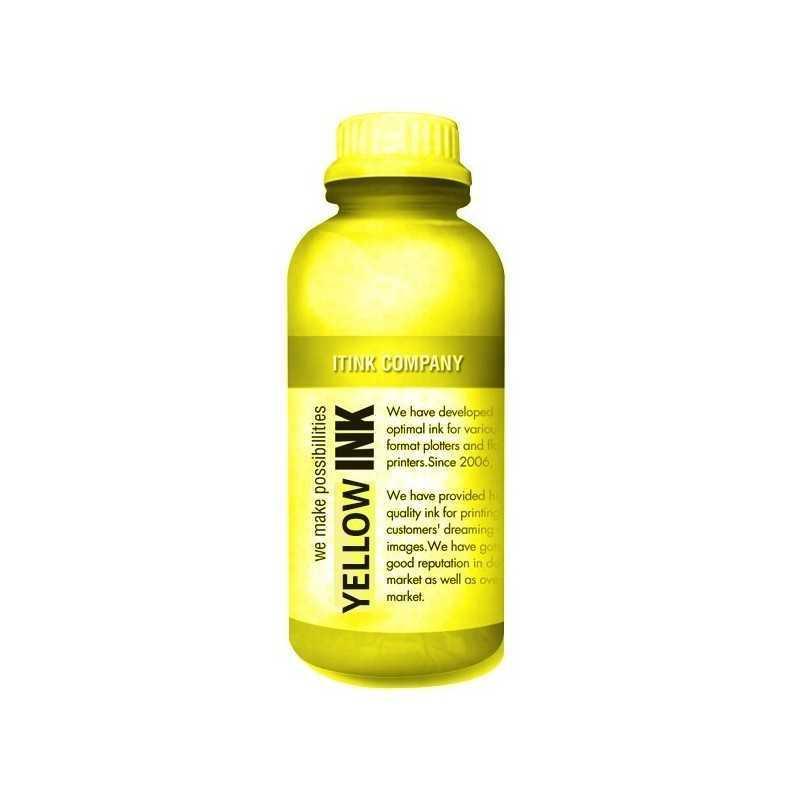 Têxtil 1000ml de tinta amarelo para impressoras DTG