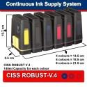 CISS TIL EPSON R2400 MBOX-V.2, FLYVE-V.3
