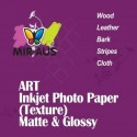 מרקם הקליפה נייר צילום להזרקת דיו מאט של אמנות