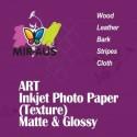 Glänsande Art Inkjet Photo papper tyg textur