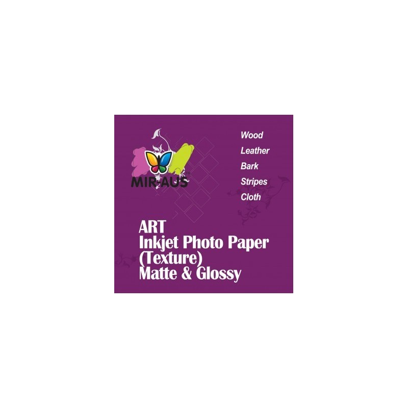 Glossy Art Inkjet Photo Paper Wood Texture