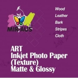 Textura de couro brilhante arte Inkjet Photo Paper