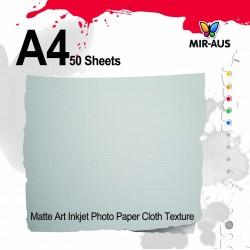 Textura de pano de papel fotográfico fosco de jato de tinta de arte