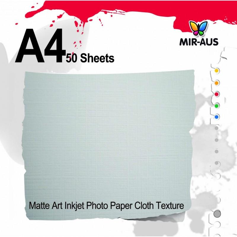 Matte Art Inkjet Photo Paper Cloth Texture