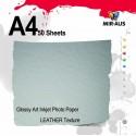 Glänsande Art Inkjet Photo Paper läder Texture