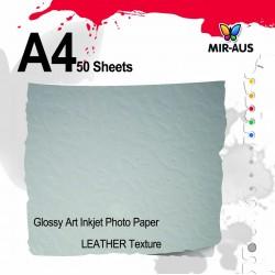 Photo de jet d'encre brillant Art papier Texture de cuir