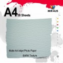 Matte Art Inkjet Photo Papier Rinde Textur