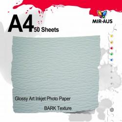 Textura da casca brilhante arte Inkjet Photo Paper