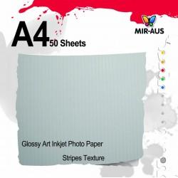 Papel de arte brillante Inkjet Photo rayas textura