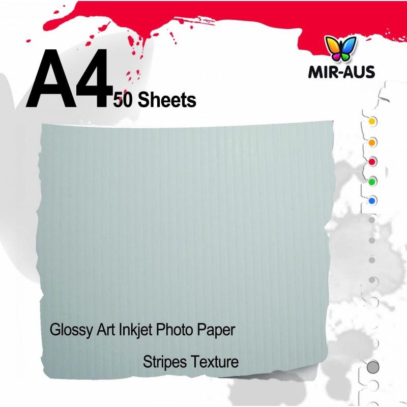Glossy Art Inkjet Photo Paper Stripes Texture