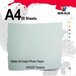 טקסטורת עץ של נייר צילום להזרקת דיו מאט של אמנות