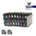 A+B empty Refillable ink cartridge EPSON R2880 9 colours