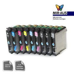 A+B empty Refillable ink cartridge EPSON R2880 9 colours