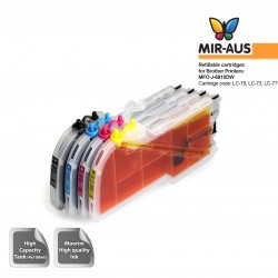 Cartuchos de tinta recarregáveis para Brother MFC-J-6910DW LC75 LC73 LC77