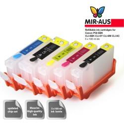 Refillable Ink Cartridges for Canon IP4200 PGI-5BK CLI-8BK CLI-8Y CLI-8M CLI-8C