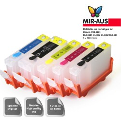 Empty Refillable Ink Cartridges for Canon MP960 PGI-5BK CLI-8BK CLI-8Y CLI-8M CLI-8C