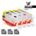 Cartucho de tinta recargables HP 564 4 cartrudges