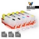 Refillable tinta cartridge HP 564 5 cartrudges