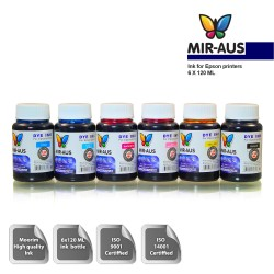 120 ml 6 Colour Dye ink for Epson printers