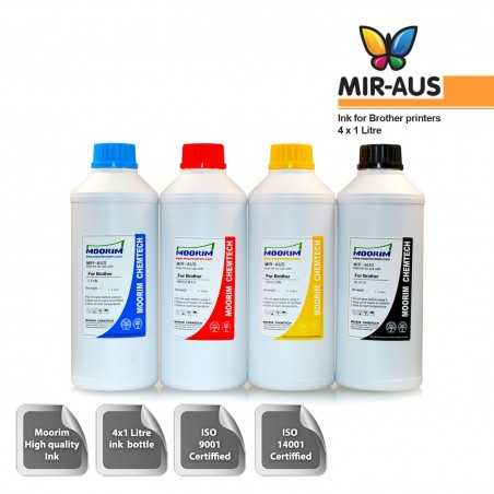 1 Litre 4 colours ink for Brother printers