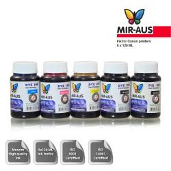 100 ml 5 färger färgämne/pigment bläck för Canon 650-651
