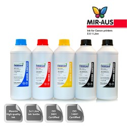 1 Litre 5 colours dye/pigment ink for Canon CLI-521
