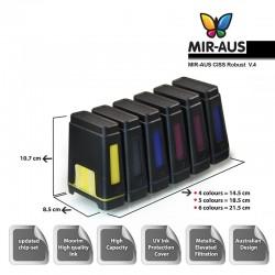CISS עבור HP Photosmart D7363 7363 HP02 פליי-s55 2008