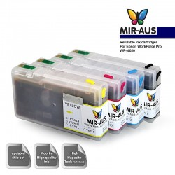 Dye Refillable ink cartridges for Epson WorkForce Pro WP-4020