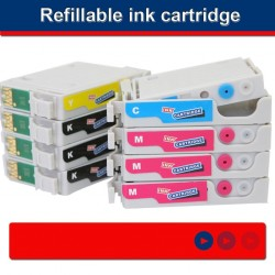 Refillable ink cartridge for EPSON R1900