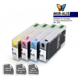 Dye Refillable ink cartridges for Epson WorkForce Pro WP-4530