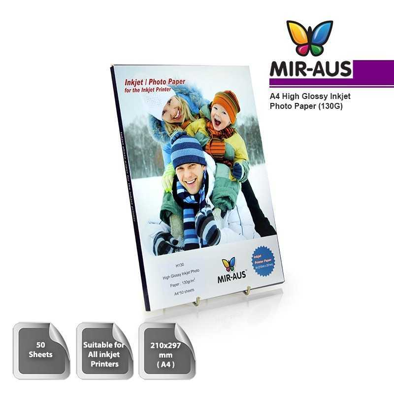 A4 130G High Glossy Inkjet Photo Paper