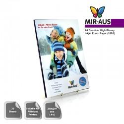 A4 260 G Premium tinggi Inkjet Photo kertas Glossy