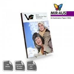 Visuelle Innovation Sublimation Papier A4 Größe - 100 Blatt