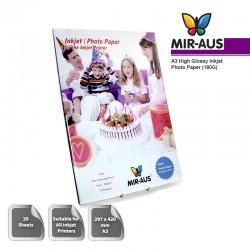 A3 180 G høj Glossy Inkjet Photo Paper