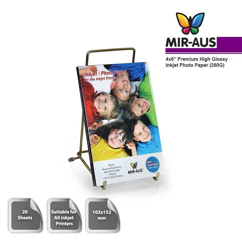 102x152mm 260G Premium High Glossy Inkjet Photo Paper