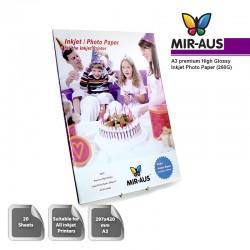 A3 260G Premium High Glossy Inkjet Photo Paper