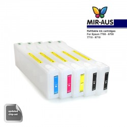 Refillable ink cartridges for Epson 7700 9700 7710 9710